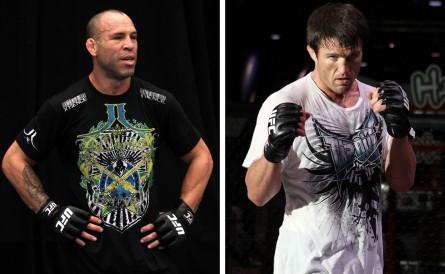 W. Silva (esq.) pode enfrentar C. Sonnen (dir.) em novembro. Foto: Produção MMA Press (Josh Hedges/UFC)