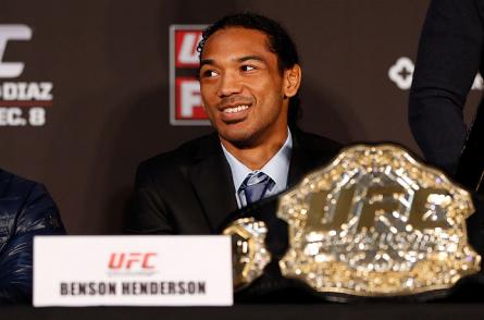 B.Henderson (foto) ainda precisa de oito vitórias para superar a atual marca de defesas de cinturão. Foto: Josh Hedges/UFC