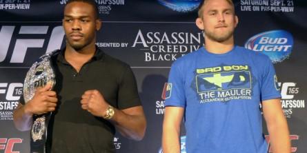 J. Jones defende cinturão contra A. Gustafsson. Foto: Divulgação/UFC