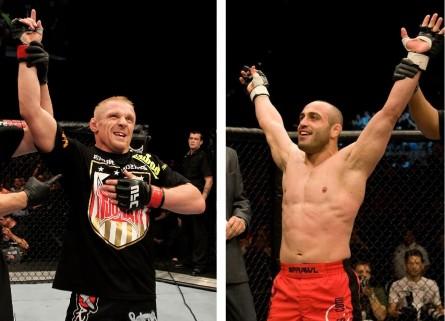 D. Siver (esq.) e M. Gamburyan (dir.) se enfrentam em dezembro. Foto: Produção MMA Press (Josh Hedges/UFC)