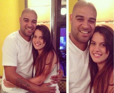 Adriano e Bruna Gonzaga juntos em uma churrascaria no Rio. Foto: Instagram/Reprodução
