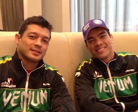 Chinzo (esq.) ao lado do irmão Lyoto (dir.). Foto: Instagram/Reprodução