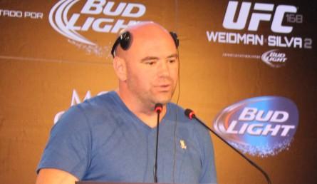Dana comentou casos de War Machine e J. Grispi. Foto: Lucas Carrano/SUPER LUTAS