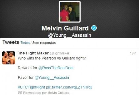 M. Guillard e a gafe da votação. Foto: Produção MMA Press (Twitter/Reprodução)