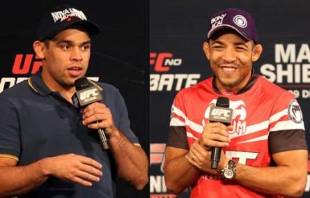 R. Barão (esq.) e J. Aldo (dir.) serão destaques no UFC 169. Foto: Inovafoto