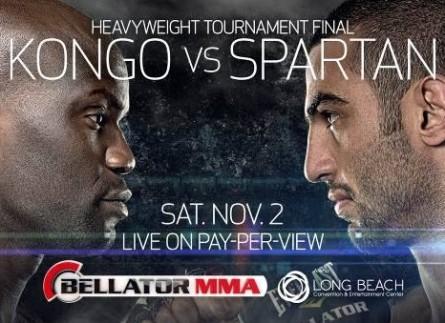 Pôster da luta entre V.Spartan e C.Kongo. Foto: Facebook/Reprodução