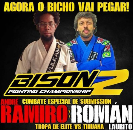 Cartaz do Bison 2 destaca o confronto entre os artistas.