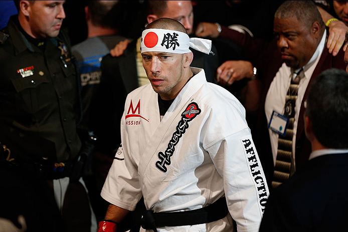 St. Pierre (foto) é ex-campeão do UFC. Foto: Josh Hedges/UFC