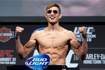 H.G.Lim (foto) foi promovido para a luta principal do UFC Cingapura. Foto: Josh Hedges/UFC