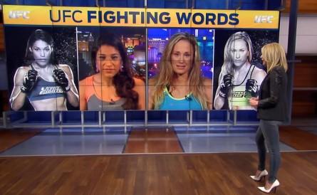 Julianna Peña participa do FOX Sports Live. Foto: Reprodução/FOX Sports