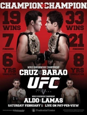 Pôster oficial do UFC 169. Foto: UFC/Divulgação