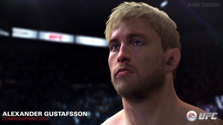 Versão digital de Gustafsson impressiona pela riqueza de detalhes. Foto: Divulgação/EA Sports