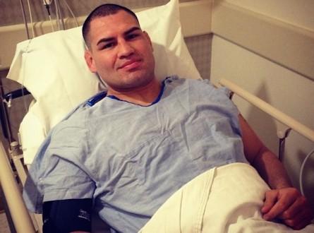 C. Velasquez após cirurgia no ombro. Foto: Instagram/Reprodução