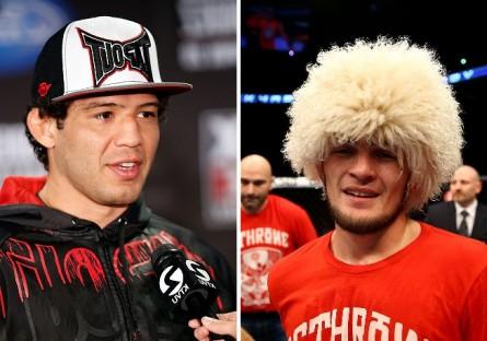 G. Melendez (esq.) deve enfrentar K. Nurmagomedov (dir.) em fevereiro. Foto: Produção MMA PRESS (Josh Hedges/UFC)