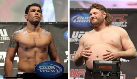 R.Minotauro (esq.) e R.Nelson (dir.) devem se enfrentar pela reabilitação no Ultimate. Foto: Produção SUPER LUTAS (Josh Hedges/UFC)