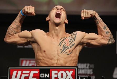 Poirier enfrenta Brandão no UFC 168. Foto: Divulgação/UFC