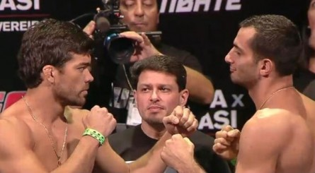 Lyoto Mousasi pesagem 445x245 Vídeo: Lyoto Machida vs. Gegard Mousasi