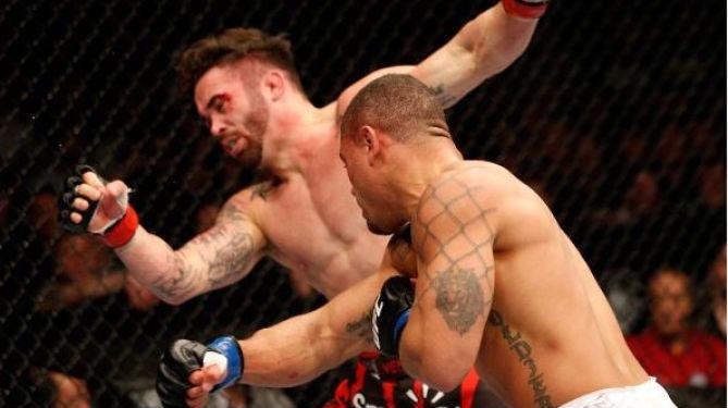 Trujillo nocauteou Varner em combate histórico no UFC 169. Foto: Divulgação/UFC