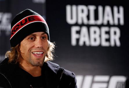 U. Faber (foto) durante o media day do UFC 169, em Nova York. Foto: Josh Hedges/UFC
