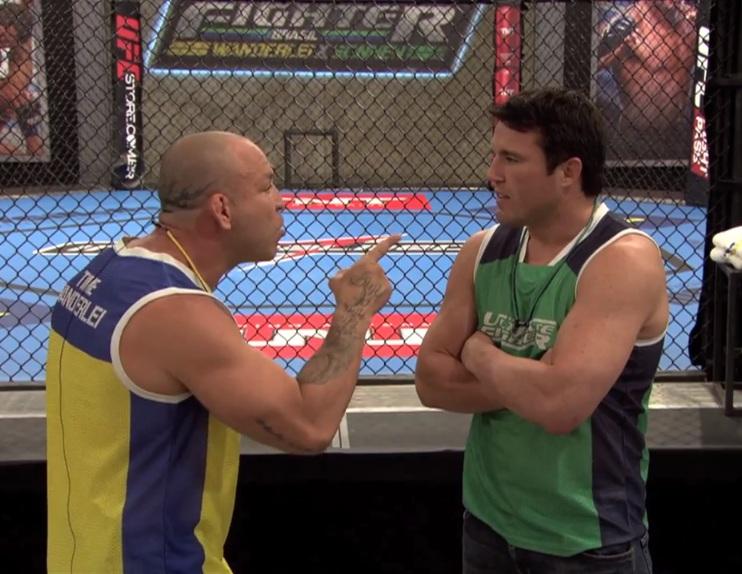 Rivalidade entre Wand e Sonnen já deu as caras no primeiro episódio do TUF. Foto: Reprodução/YouTube