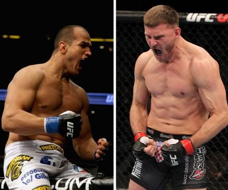 J. Cigano (esq.) e S. Miocic (dir.) se enfrentariam no dia 31 de maio. Foto: Produção MMA Press (Josh Hedges/UFC)