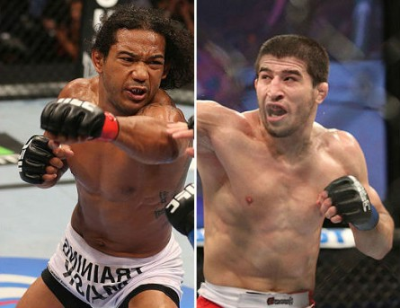Henderson (esq.) e Khabilov (dir.) se enfrentarão em junho. Foto: Produção MMA Press (Divulgação/UFC)