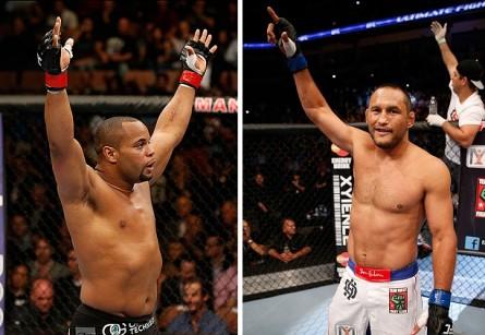 D. Cormier (esq.) deve enfrentar D. Henderson (dir.) em maio. Foto: Produção Super Lutas (UFC/Divulgação)