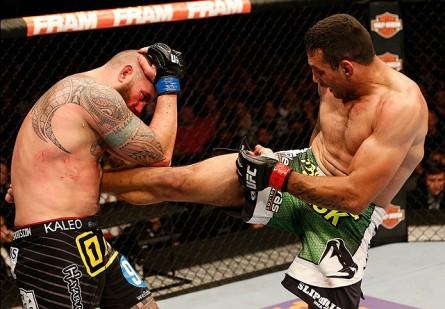 Trocação de Werdum (dir.) contra Browne (esq.) deixou boa impressão. Foto: Josh Hedges/UFC