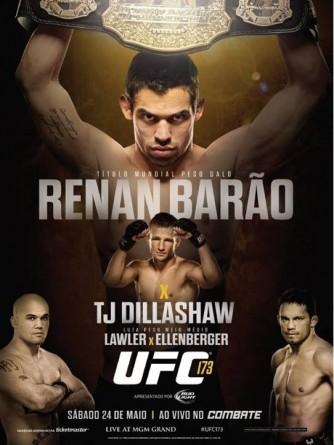 Pôster completo do UFC 173. Foto: Reprodução/Facebook