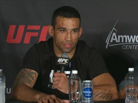 Werdum durante a coletiva de imprensa do UFC on FOX 11. Reprodução/YouTube