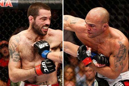Brown (esq.) enfrentará Lawler (dir.) em julho. Foto: Produção Super Lutas (Divulgação/UFC)