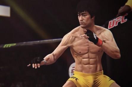 Bruce Lee em ação no jogo EA Sports UFC. Foto: Reprodução/YouTube