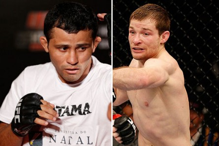Formiga (esq.) e Jorgensen (dir.) se enfrentam em agosto. Foto: Produção Super Lutas (Divulgação/UFC)