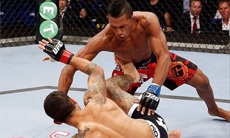 I. Marajó nocauteia Lee no UFC Fight Night 41.