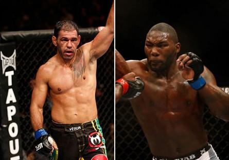 Minotouro (esq.) e Johnson (dir.) deverão lutar em julho. Foto: Produção Super Lutas (Divulgação/UFC)
