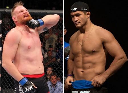 Empresário de Barnett (esq.) revelou que veterano quer enfrentar Cigano (dir.). Foto: Produção Super Lutas (UFC/Divulgação)