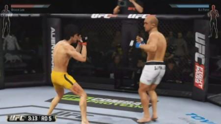 Lee (esq.) enfrentou Penn (dir.) em duelo dos sonhos no EA Sports UFC. Foto: Reprodução/YouTube