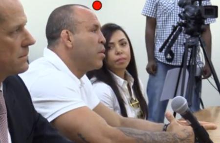 Wanderlei e sua esposa comparecem à audiência da NSAC. Foto: Reprodução/YouTube