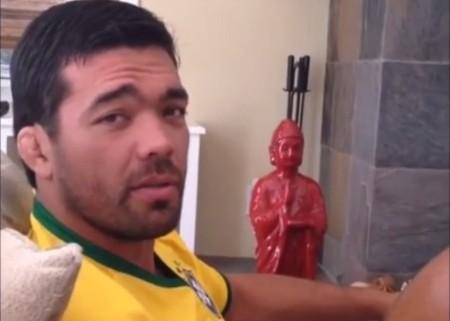 Lyoto torce pela seleção brasileira nos EUA. Foto: Reprodução