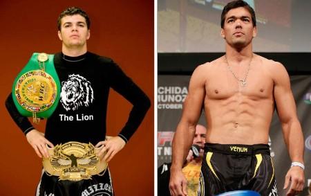 L. Machida (dir.) não poupou elogios a Artem Levin (esq.). Foto: Produção Super Lutas (Divulgação/UFC)