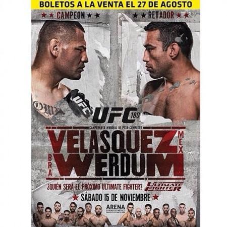 Pôster do UFC 180 apresenta Velasquez como mexicano. Foto: Reprodução/Facebook