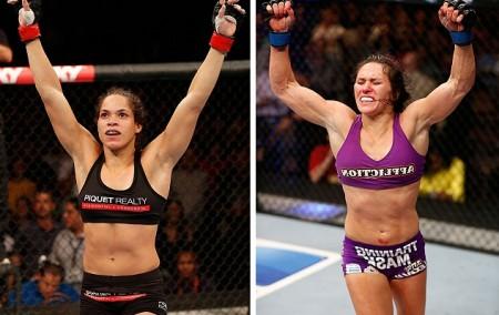 Amanda (esq.) e Zingano (dir.) devem definir a próxima desafiante ao título. Foto: Produção Super Lutas (UFC/Divulgação)