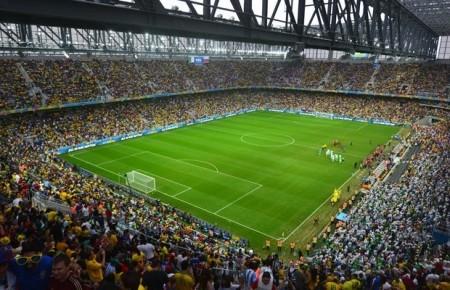 Arena da Baixada durante jogo da Copa do Mundo 2014. Foto: Reprodução/CAP-SA