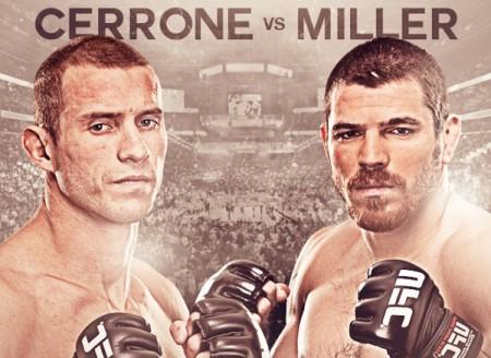 Cerrone e Miller fazem a luta principal do UFC FN 45. Foto: Divulgação