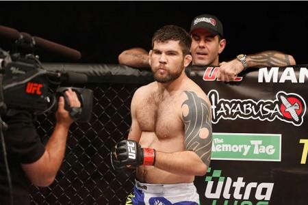 Drysdale (foto) havia vencido por finalização em sua estreia no UFC. Foto: Josh Hedges/UFC