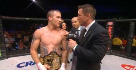 Gaethje se manteve com o cinturão do WSOF. Foto: Reprodução/YouTube