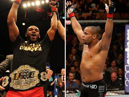 Jones (esq.) e Cormier (dir.) farão luta pelo título no UFC 178. Foto: Produção Super Lutas (UFC/Divulgação)
