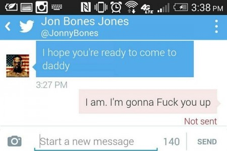 Cormier divulgou conversa com Jones por DM no Twitter. Foto: Reprodução