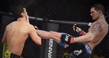 Weidman acerta Belfort no EA Sports UFC. Foto: Reprodução/YouTube