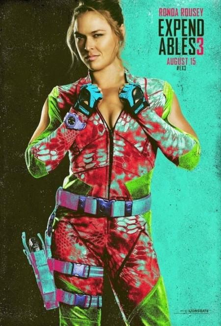 """Ronda em cartaz de """"Os Mercenários 3"""" para a Comic Con 2014. Foto: Reprodução/Tumblr"""